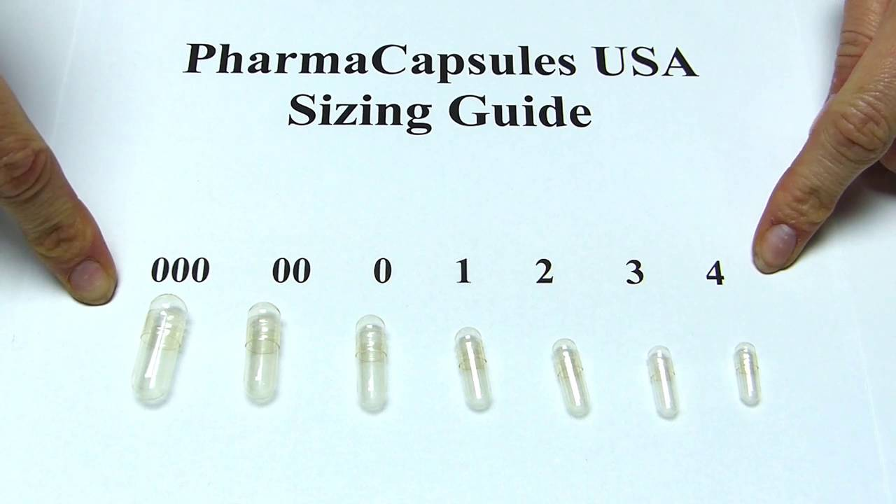 pill capsule size guide