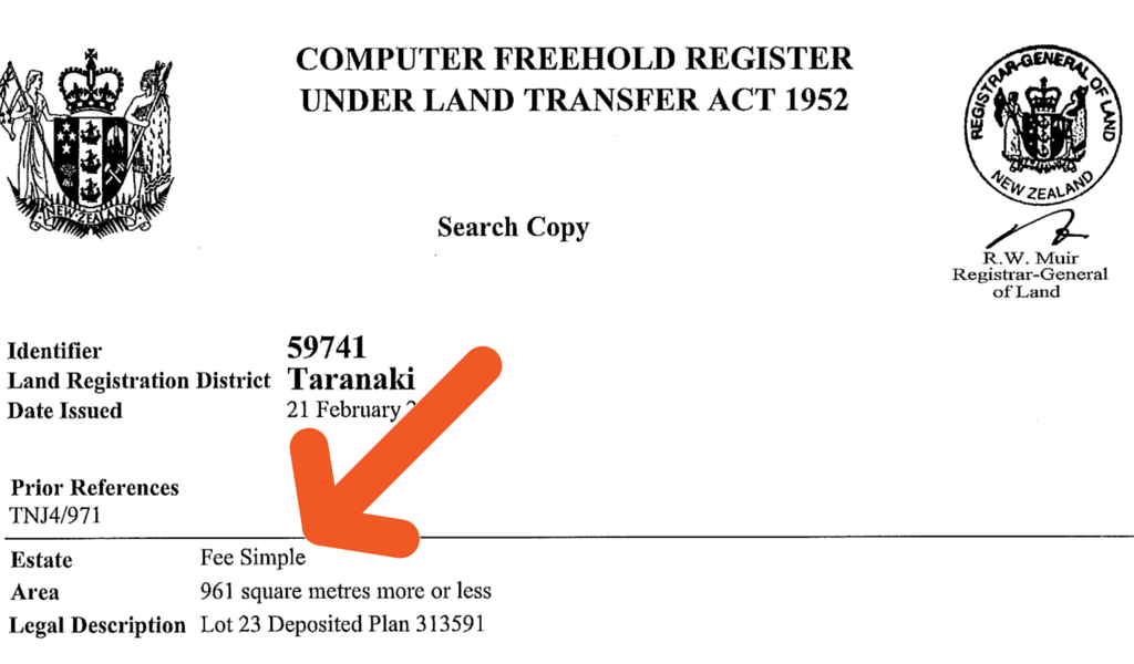 sample title search document nz