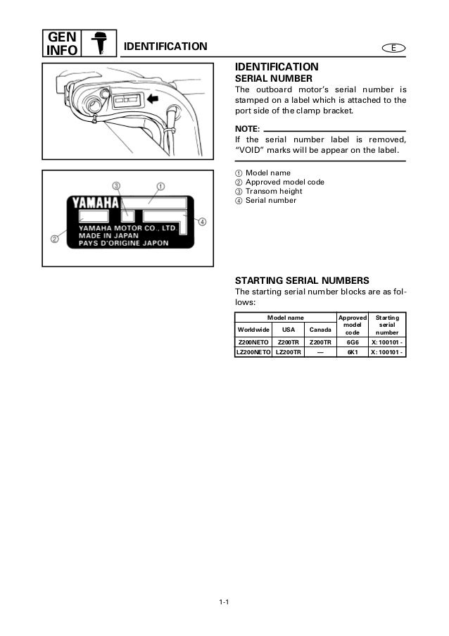 yamaha outboard identification guide